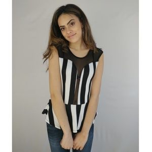 Referee Deep V Peplum Top Small
